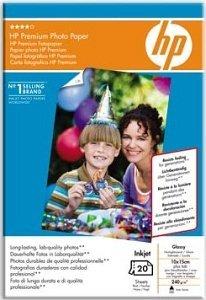 HP Q1991A Premium Fotopapier hochglänzend 10x15, 240g, 20 Blatt