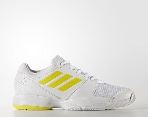 084207debcd862 adidas Barricade Court white bright yellow white (ladies) (BY1651 ...