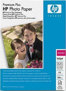 HP Q1786A Premium Plus photo paper high gloss A4, 280g, 50 sheets