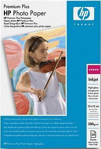HP Q1979A Premium Plus photo paper high gloss 10x15, 280g, 20 sheets