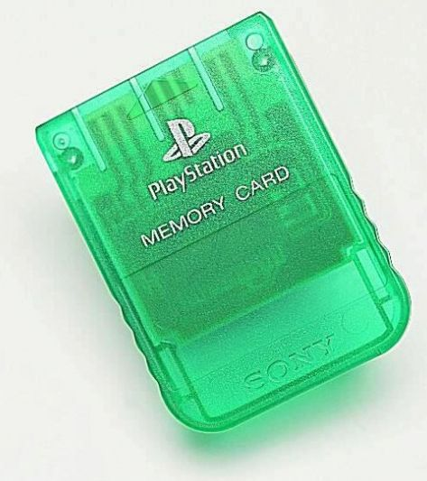 Sony Playstation One - Memory Card green
