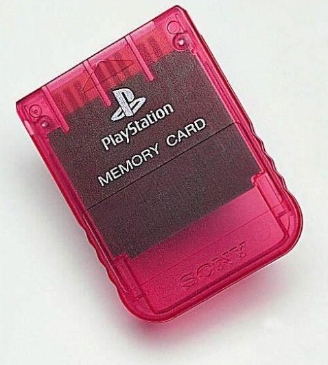 Sony PlayStation One - Memory Card czerwony