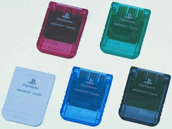 Sony Playstation One - Memory Card, various colours (PS1)