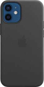 Apple Leder Case mit MagSafe für iPhone 12 Mini schwarz (MHKA3ZM/A)