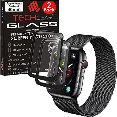 Techgear Panzerglas für Apple Watch Series 4 40mm schwarz -- via Amazon Partnerprogramm