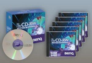 BenQ CD-RW 80min/700MB, 5-pack