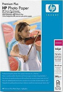 HP Q1980A Premium Plus papier foto wysoki połysk 10x15, 280g, 60 arkuszy