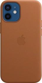 Apple Leder Case mit MagSafe für iPhone 12 Mini sattelbraun (MHK93ZM/A)