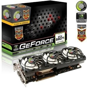 Point of View GeForce GTX 560 Ti TGT Charged Triple Fan, 1GB GDDR5, 2x DVI, Mini HDMI (TGT-560-A1-C)