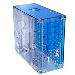 Various Crystal clear acrylic Midi-Tower blue (without power supply)
