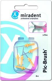 Miradent Pic-Brush gelb Ersatz Interdentalbürste x-fine, 6 Stück