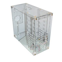 Diverse Crystal Clear Acryl Midi-Tower transparent (ohne Netzteil)
