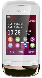 Nokia C2-03 golden white