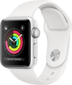 Apple Watch Series 3 (GPS) Aluminium 38mm silber mit Sportarmband weiß (MTEY2ZD/A)