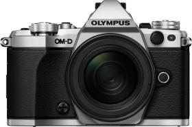 Olympus OM-D E-M5 Mark II silber mit Objektiv M.Zuiko digital ED 12-40mm und HLD-8 Handgriff (V207041SE010)