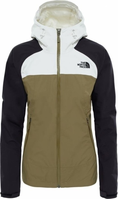 7216bc77bbc The North Face Stratos Jacket burnt olive green/tnf black/vaporous grey ( ladies