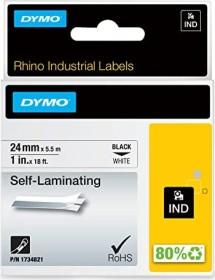 Dymo ID1 Industrial Rhino Pro self-laminating labelling tape 24mm, black/white (1734821)