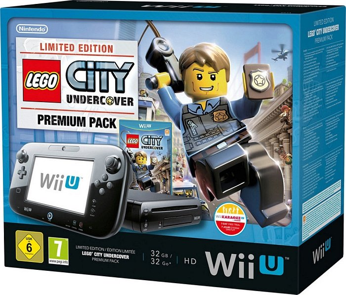 Nintendo Wii U Premium Pack 32gb Lego City Undercover Bundle