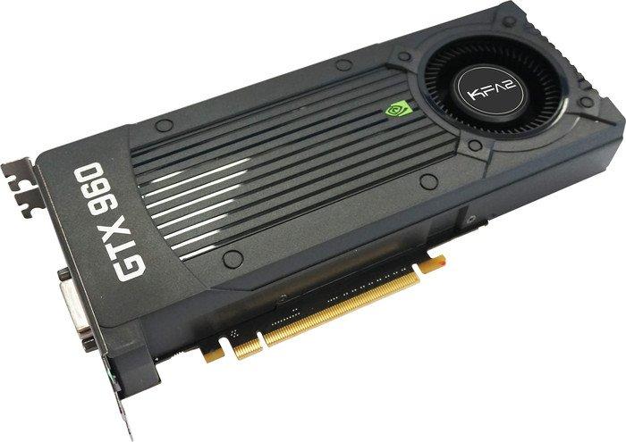 KFA² GeForce GTX 960, 2GB GDDR5, DVI, HDMI, 3x DP (96NPH8DND7UZ)