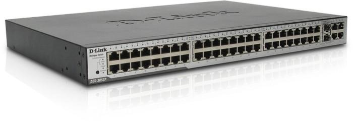 D-Link DES-30 Rackmount Managed Switch, 50x RJ-45, 2x RJ-45/SFP, PoE (DES-3052P)