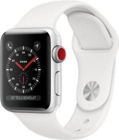 Apple Watch Series 3 (GPS + Cellular) Aluminium 38mm silber mit Sportarmband weiß (MTGN2ZD/A)