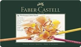 Faber-Castell Polychromos Künstlerfarbstift sortiert, 36er-Set, Metalletui (110036)