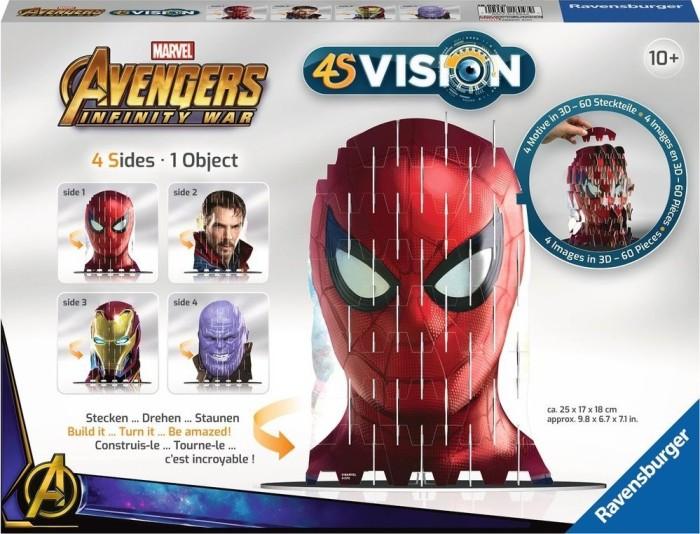 4S Vision Steckspiel TransformersRavensburger 18049Puzzle ab 12 Jahre Puzzles & Geduldspiele