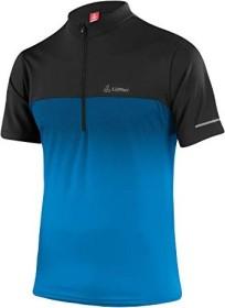Löffler Bike Half-Zip Flow Shirt kurzarm brilliant blue/black (Herren)