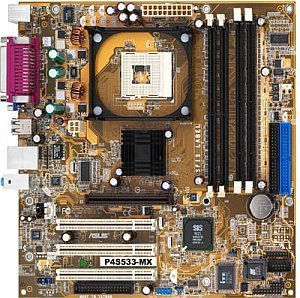 ASUS P4S533-MX, SiS651 (SDR/PC-2700 DDR)
