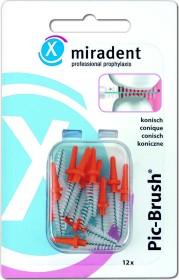 Miradent Pic-Brush orange Ersatz Interdentalbürste conical, 12 Stück