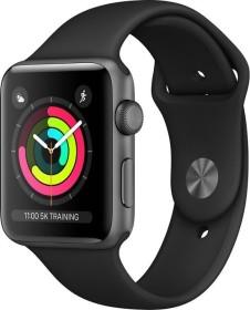 Apple Watch Series 3 (GPS) Aluminium 42mm grau mit Sportarmband schwarz (MTF32ZD/A)