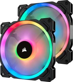 Corsair LL Series LL140 RGB, 140mm, 2er-Pack, LED-Steuerung (CO-9050074-WW)