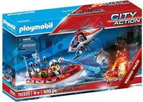 playmobil City Action - Feuerwehreinsatz mit Heli und Boot (70335)