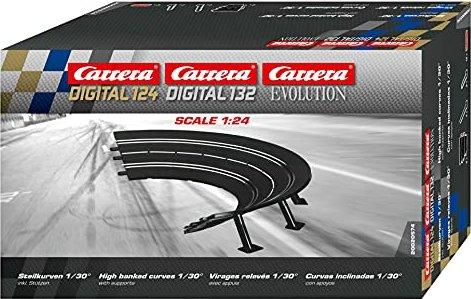 Carrera - Digital 124/132/Evolution Accessories - High banked curve 1 / 30 degrees (20574) -- via Amazon Partnerprogramm
