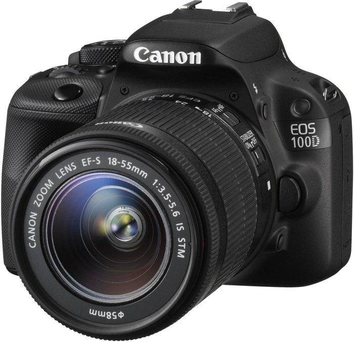 Canon EOS 100D schwarz mit Objektiv EF-S 18-55mm 3.5-5.6 IS STM (8576B022)