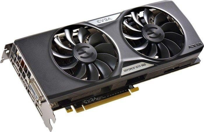 EVGA GeForce GTX 960 SuperSC ACX 2.0+, 2GB GDDR5, DVI, HDMI, 3x DisplayPort (02G-P4-2966-KR)