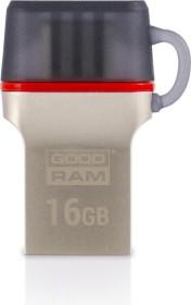 Goodram Dual ODD3 16GB grau, USB-C 3.0/USB-A 3.0 (ODD3-0160E0R11)