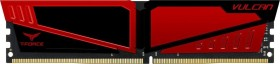 TeamGroup T-Force Vulcan Red DIMM 8GB, DDR4-2400, CL16-16-16-39 (TLRED48G2400HC16BK)
