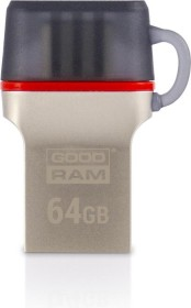 Goodram Dual ODD3 64GB grau, USB-C 3.0/USB-A 3.0 (ODD3-0640E0R11)
