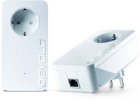 devolo dLAN 1200+ Starter Kit weiß, HomePlug AV2, RJ-45, 2er-Pack (9376 / 9382)