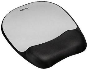 Fellowes Memory Foam wrist rest with mousepad, black/grey (9175801)
