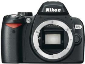 Nikon D60 schwarz Body (VBA210AE)