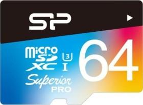 Silicon Power Superior Pro R90/W80 microSDXC 64GB, UHS-I U3, Class 10 (SP064GBSTXDU3V20SP)