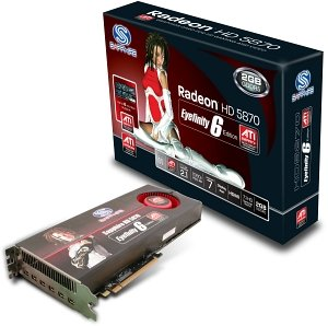 Sapphire Radeon HD 5870 Eyefinity 6 Edition, 2GB GDDR5, 6x mini DisplayPort, full retail (21161-10-50R)