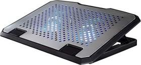 Hama aluminum USB notebook cooler aluminium, blue illuminated (53064)