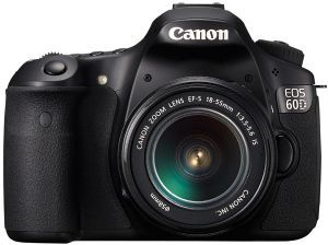 Canon EOS 60D black with lens EF-S 18-55mm 3.5-5.6 IS II (4460B162)