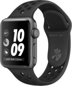 Apple Watch Nike+ Series 3 (GPS) Aluminium 38mm grau mit Sportarmband anthrazit/schwarz (MTF12ZD/A)
