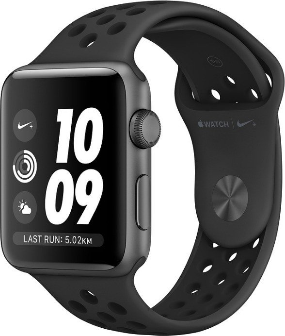 Apple Watch Nike+ Series 3 (GPS) 42mm Space Grey Aluminium Case with Anthracite/Black Nike Sport Band (MTF42ZD/A)