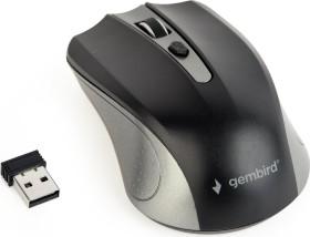 Gembird Wireless Optical Mouse 4B-04 schwarz/grau, USB (MUSW-4B-04-GB)