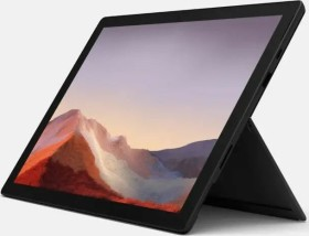 Microsoft Surface Pro 7 Mattschwarz, Core i3-1005G1, 4GB RAM, 128GB SSD + Surface Pro Signature Type Cover Mohnrot